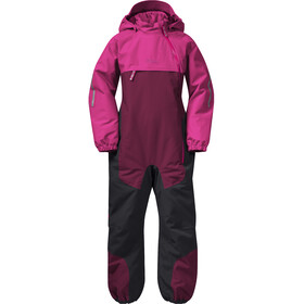 Bergans Lilletind Insulated Coverall Kids Beet Red/Raspberry/Solid Charcoal